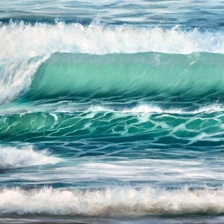 'Winter Surf' seascape giclee print