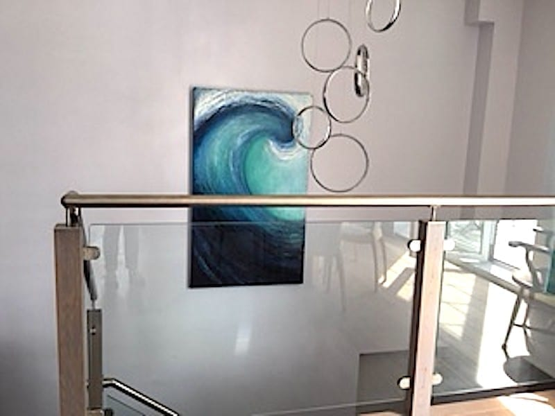 Another Large wave painting in the stairwell