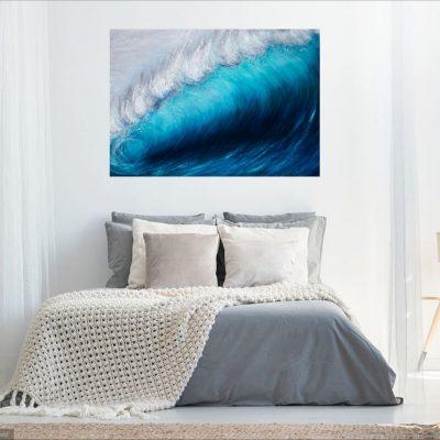 """Wave Breaking"" turquoise seascape Giclée Fine Art Print"