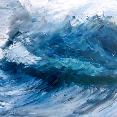 Blue Abstract Wave giclee print