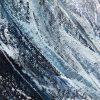 """""""Sea Grey Wave"""" oil painting on canvas of a large grey and blue wave cresting. Measuring: 60 x 90cm £350"""