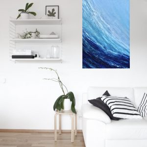 Surf The Wave giclee print in a room setting