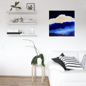 """Atmosphere"" cloudscape oil painting on canvas"