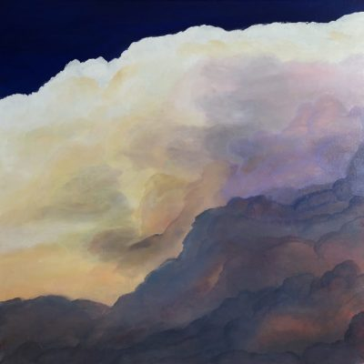 """Clouds II"" an original oil on canvas Measuring width 23.5 x height 23.5 x depth 1.5 inches or 60 x 60 cm x 4 cm. Unframed. Ready to hang. Comes with a certificate of authenticity. #artistsupportpledge"