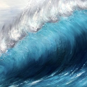 Wave Breaking original oil on canvas painting