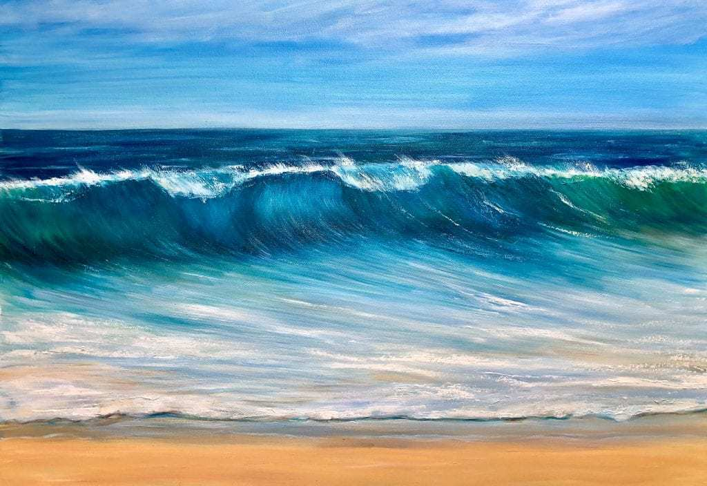 Ocean Beach giclee print on paper and available as a canvas print