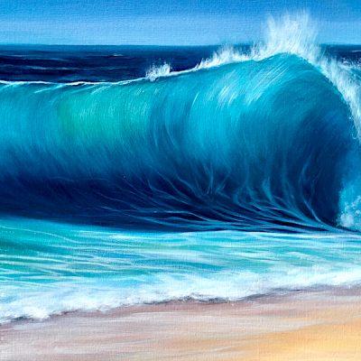 Ocean Beach Wave II giclee print for sale