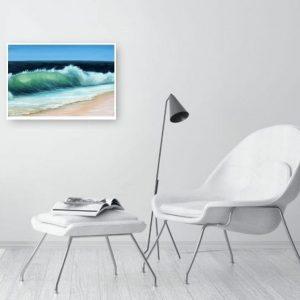 Emerald Beach giclee print in a Room Setting