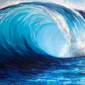 Turquoise Wave Breaking giclee fine art print