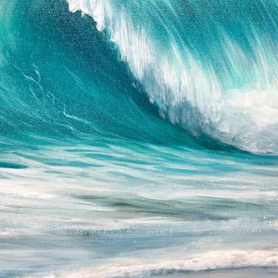 Turquoise Waves Limited Edition Giclée Archival Print. Signed and numbered.