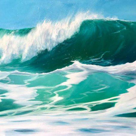 Sea Green Waves giclee print