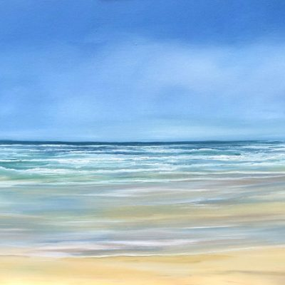 Perranporth Beach giclee print available for sale in 2 sizes