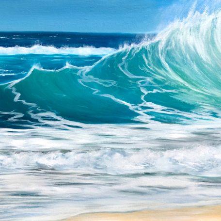 Turquoise Waves II giclee print