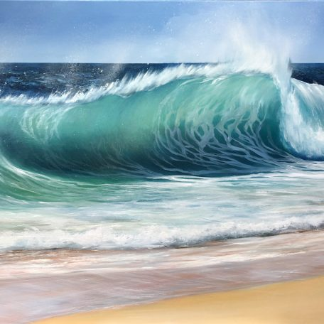 Emerald Beach Wave giclee print
