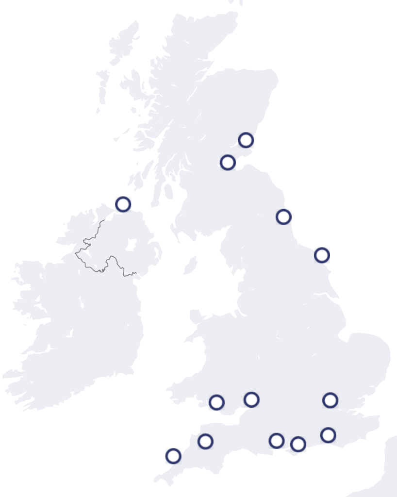 The Wave Projects has locations all around the UK including Brighton & Hove, West and East Sussex, Bristol, Cornwall, Devon, Dorset, Isle of Wight, London, North East, North Yorkshire, Northern Ireland, Scotland and Wa
